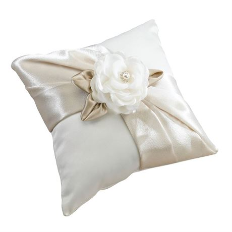 Sophisticated Floral Ring Pillow