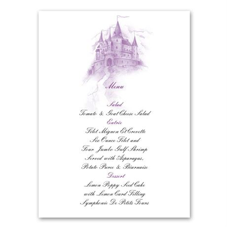 Happily Ever After Menu Card