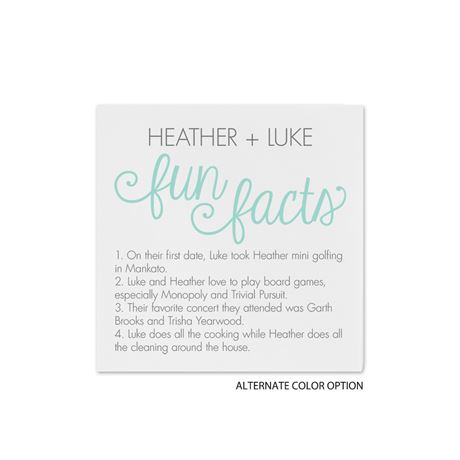 Fun Facts - White - Cocktail Napkin