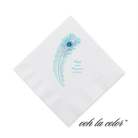Feather Fancy Cocktail Napkin