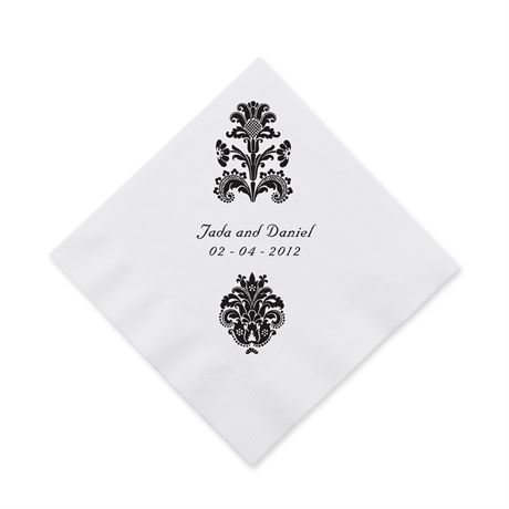 Clearly Refined Cocktail Napkin