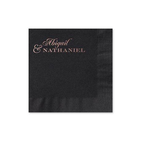 Beautiful Names - Black - Foil Cocktail Napkin
