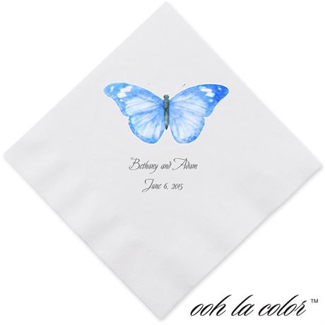 Butterfly in Blue - Dinner Napkin