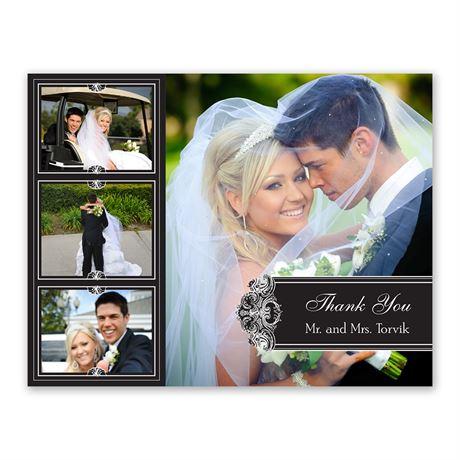 Photo Delight - Ebony - Photo Thank You Card and Envelope