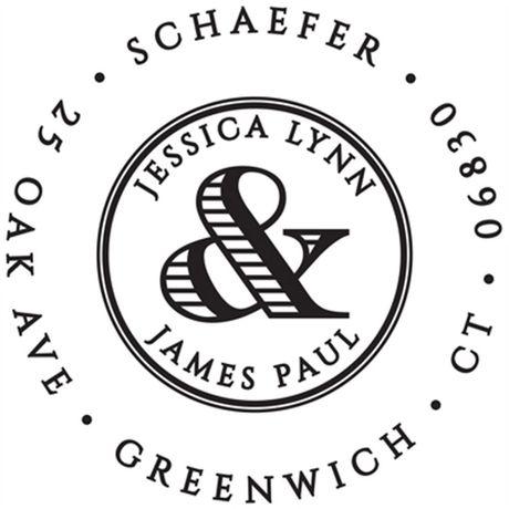 Ampersand Address Stamp