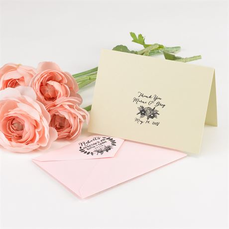 Floral Address Stamp