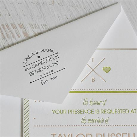 Arrows and Heart Address Stamp