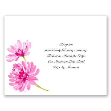 Watercolor Peony - Lipstick - Reception Card