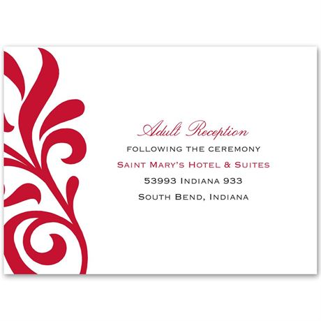 Flair for Style Reception Card