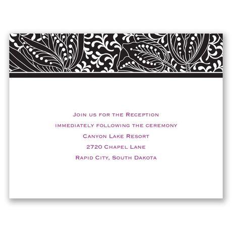 Blossoming Beauty - Ebony - Reception Card