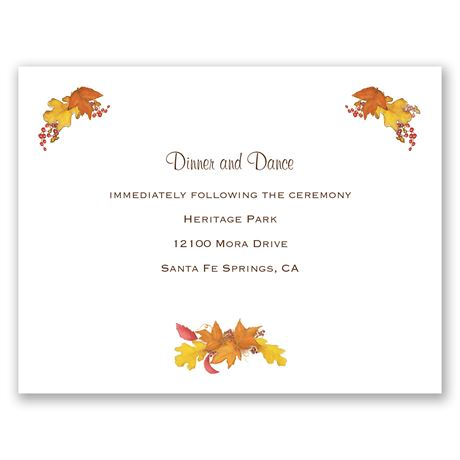 Fall Foliage Reception Card