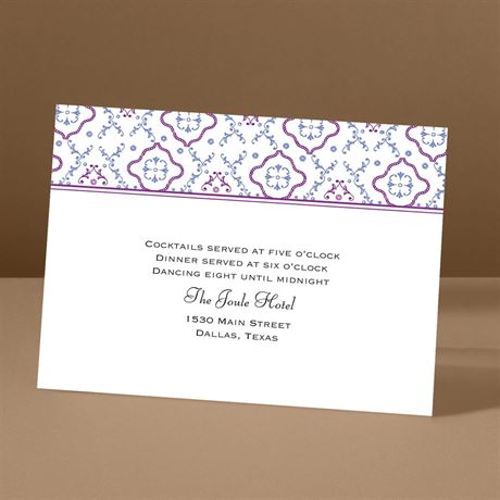 Antique Details - Amethyst - Reception Card