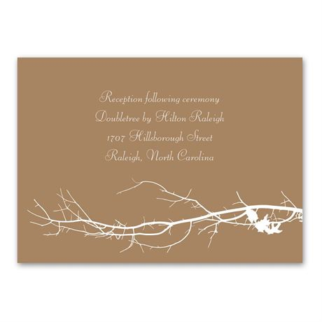 Boughs and Branches Reception Card