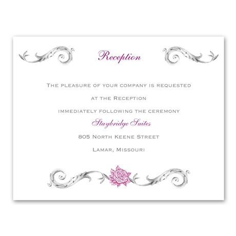 Fairy Tale Roses Reception Card