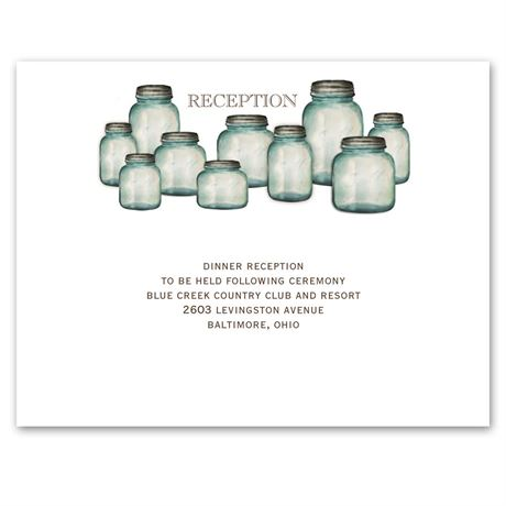 Canning Jars Reception Card