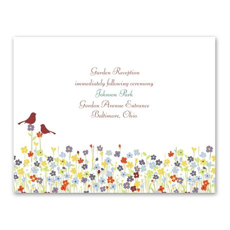 Love Springs Reception Card