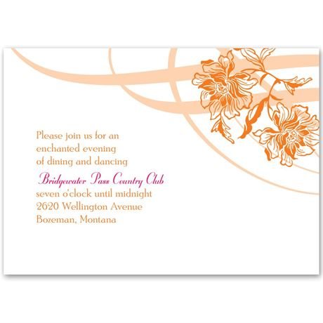 Flowers and Flourishes Reception Card