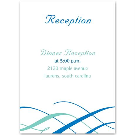 Swirls of Color Reception Card
