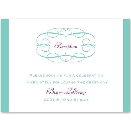 Swirl Frame Reception Card