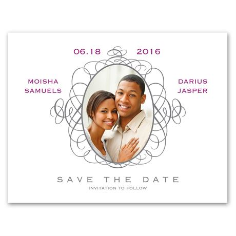 Antique Frame Photo Save the Date Card