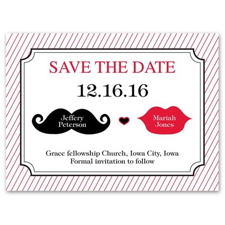 Kissable Save the Date Card