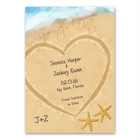Just Beachy Save the Date Card