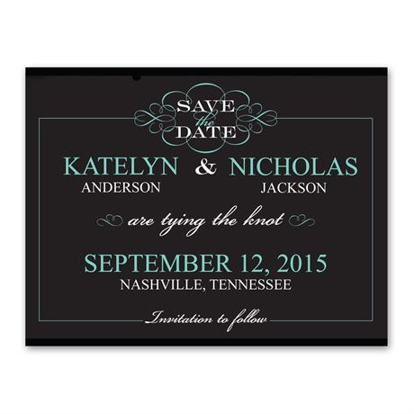 Flourishing Typography Save the Date Card