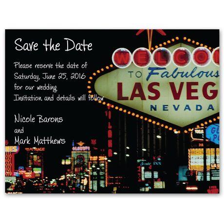 Fabulous Las Vegas Photo Save the Date Card
