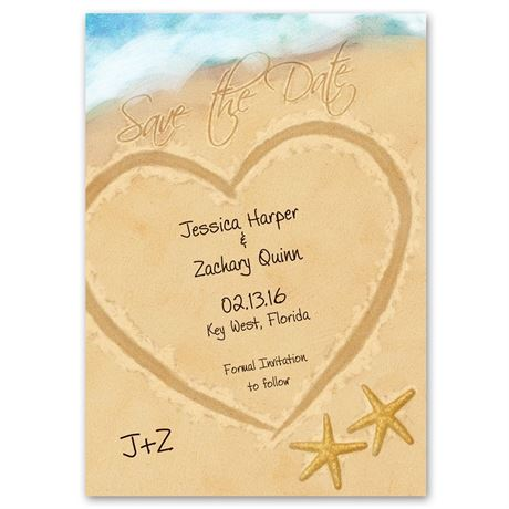 Just Beachy Photo Save the Date Card