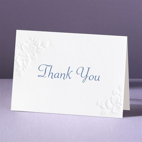 Interlocking Hearts Thank You Card and Envelope