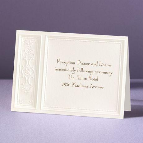 Majestic Flowers Reception Card