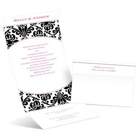 Damask Arch - Ebony - Seal and Send Invitation