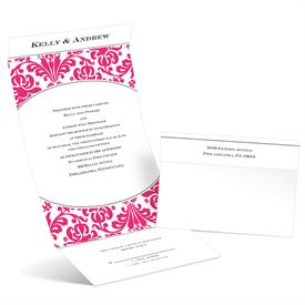 Damask Arch - Lipstick - Seal and Send Invitation