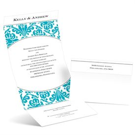 Damask Arch - Palm - Seal and Send Invitation