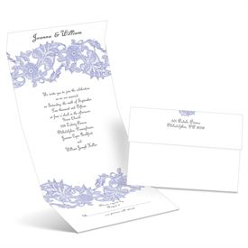 Vintage Lace - Hydrangea - Seal and Send Wedding Invitation