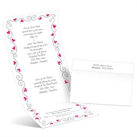 Whimsical Hearts - Lipstick - Seal and Send Wedding Invitation