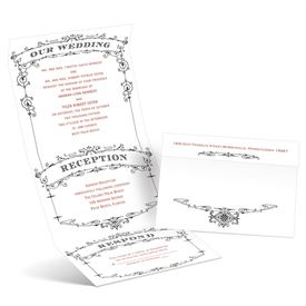 Wedding Playbill - Ebony - Seal and Send Invitation