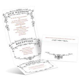 Vintage Wedding Invitations: Wedding Playbill Seal and Send Invitation