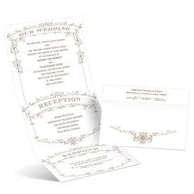 Wedding Playbill - Latte - Seal and Send Invitation