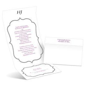 Graceful Frame - Ebony - Seal and Send Wedding Invitation