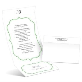 Graceful Frame - Grass - Seal and Send Wedding Invitation