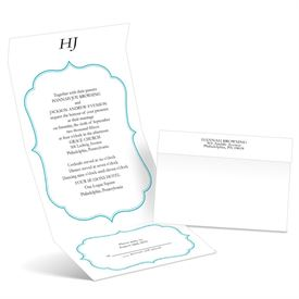 Graceful Frame - Palm - Seal and Send Wedding Invitation