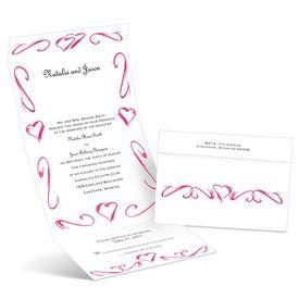 Heartfelt Frame - Lipstick - Seal and Send Wedding Invitation