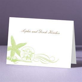 Starfish and Seashells - Pear - Thank You Note