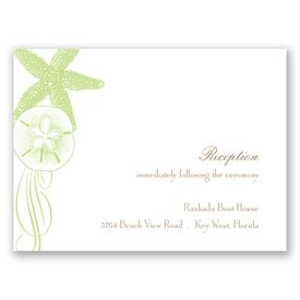 Starfish and Seashells - Pear - Reception Card