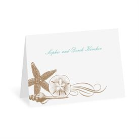 Starfish and Seashells - Latte - Thank You Note