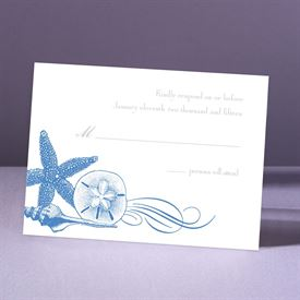 Starfish and Seashells - Ocean - Response Card and Envelope