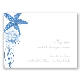 Starfish and Seashells - Ocean - Reception Card
