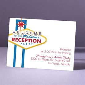 Fabulous Vegas - Blue - Reception Card