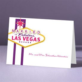 Fabulous Vegas - Grapevine - Thank You Note Folder and Envelope